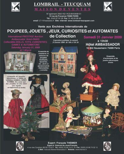 Poupées, jouets, jeux, curiosités et automates de collection - EXPERT : F. THEIMER
