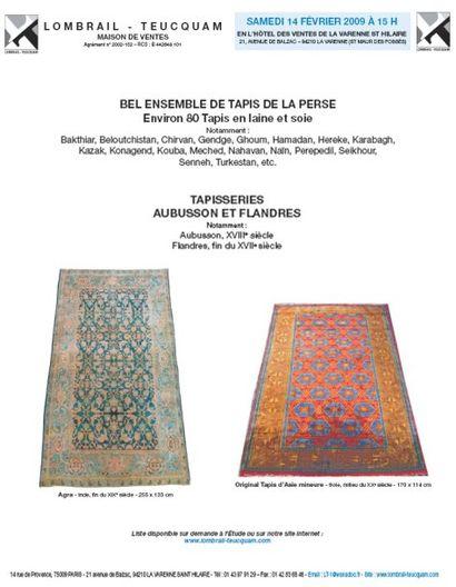 TAPIS D'ORIENT - LA VARENNE ST HILAIRE EXPERT : F. KASSAPIAN