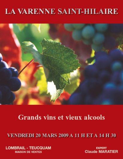 GRANDS VINS & VIEUX ALCOOLS - LA VARENNE ST HILAIRE - EXPERT : C. MARATIER