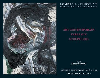 Tableaux et sculptures modernes et contemporains - EXPERT : A. BRIMAUD