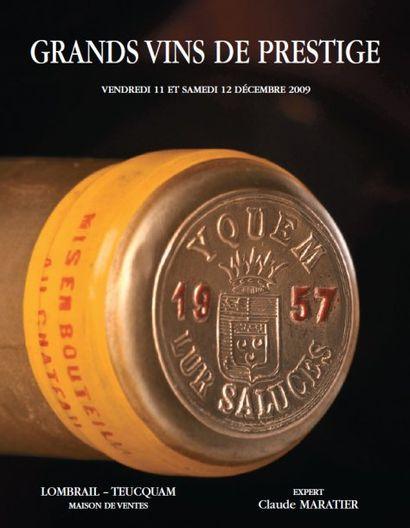 VENTE DE PRESTIGE EN GRANDS VINS & VIEUX ALCOOLS DANS LE CADRE DU MUSEE DE LA CHASSE A PARIS   Expert : C. MARATIER