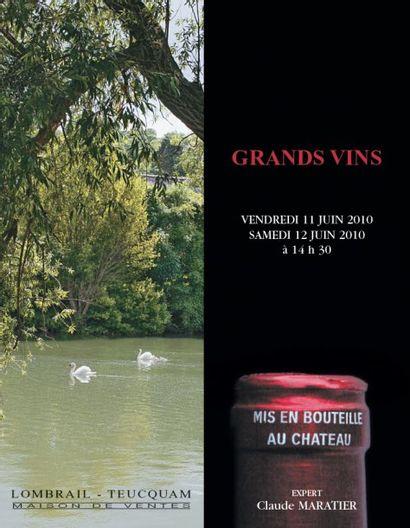 VENTE PRESTIGE EN GRANDS VINS & VIEUX ALCOOLS - EXPERT : C. MARATIER