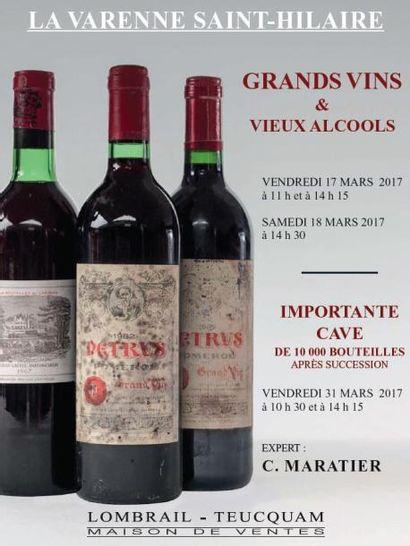 Vente à 11h et 14h15 : Grands vins et vieux alcools - Session 1 - EXPERT : C. MARATIER