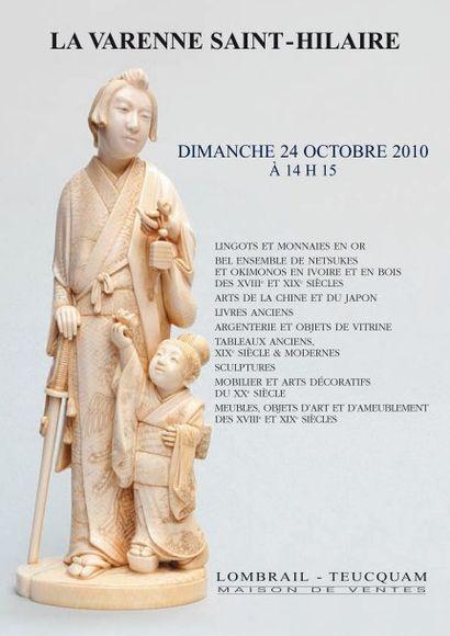 LINGOTS D' OR - EXTREME ORIENT - OKIMONOS ET NETSUKES EN IVOIRE DU JAPON - ARTS DE LA CHINE  - TABLEAUX & SCULPTURES - ARTS DECORATIFS DU XXe S.  MEUBLES, OBJETS D'ART ET D'AMEUBLEMENT