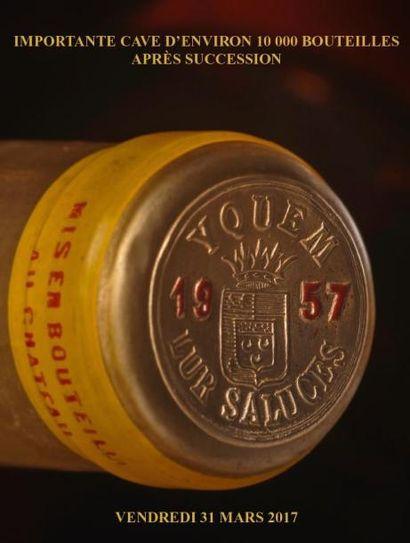 Vente à 10h30 et à 14h15 : Importante cave d'environ 10 000 bouteilles après succession - EXPERT : C. MARATIER  - VENTE AU DERNIER ENCHERISSEUR SANS PRIX DE RESERVE