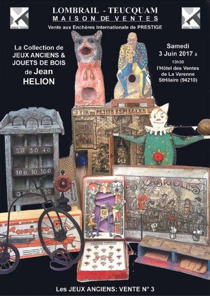 Vente à 10h30 et 14h : Collection de jeux anciens et de jouets en bois de Jean HELION - EXPERT : F. THEIMER