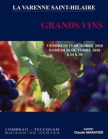 GRANDS VINS & VIEUX ALCOOLS - Expert : C. MARATIER