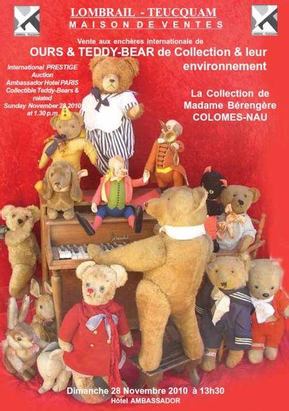 OURS & TEDDY-BEAR de Collection & leur environnement - EXPERT : F. THEIMER - HÔTEL AMBASSADOR