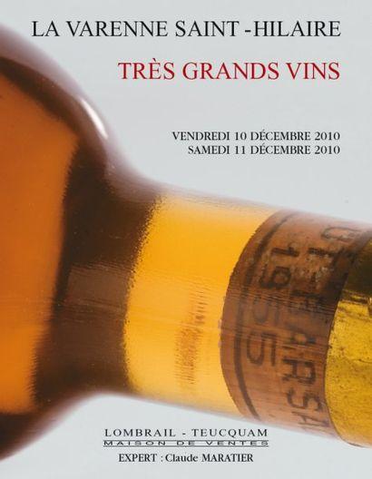 Vente prestige - Grands vins et vieux alcools - expert : C. Maratier - Vente en live