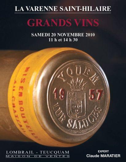 GRANDS VINS & VIEUX ALCOOLS - EXPERT : C. MARATIER - HÔTEL DES VENTES DE LA VARENNE ST HILAIRE