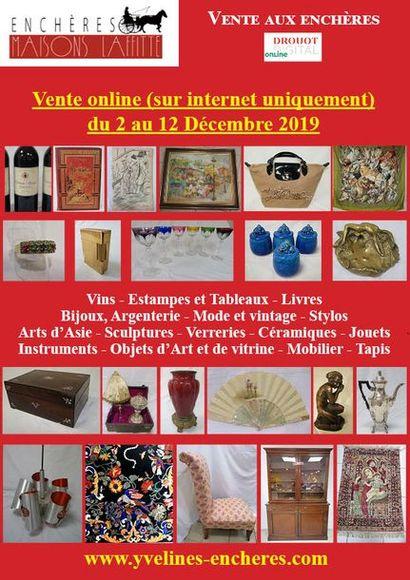Vente online : Vins - Livres - Arts graphiques - Bijoux - Mode - Argenterie - Arts de la table - Objets d'Art et de Vitrine - Instruments de musique - Verrerie - Céramique - Arts d'Asie - Mobilier - Tapis