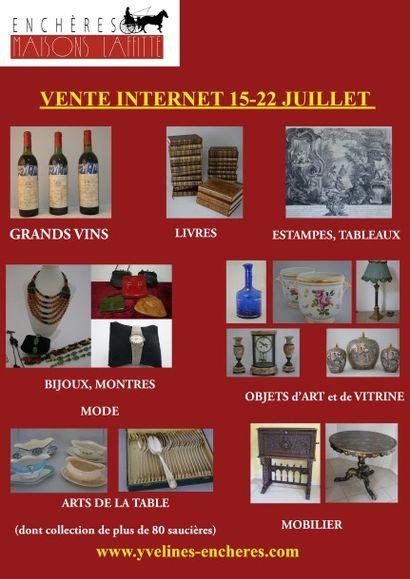 Vins, livres, tableaux, bijoux, mode, objets d'art, mobilier - VENTE INTERNET