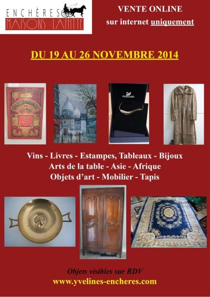 Tableaux, mobilier et objets d'art, livres, vins