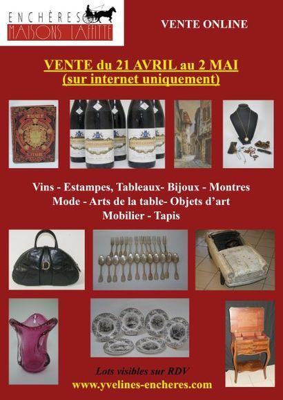 Vins - Estampes - Tableaux - Bijoux - Montres - Mode - Arts de la table - Objets d'art - Mobilier - Tapis