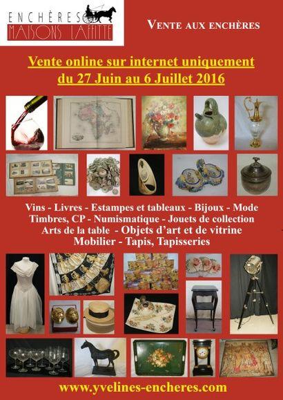 Vente online : Vins - Livres - Estampes et tableaux - Bijoux et Mode - Arts de la table - Objets d'art et de vitrine - Jouets de collection - Mobilier - Tapis