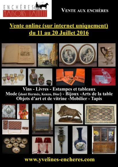 Vente online :  Vins - Livres - Estampes et tableaux - Bijoux et Argenterie - Mode et Vintage - Arts de la table - Objets d'Art et de vitrine - Mobilier - Tapis