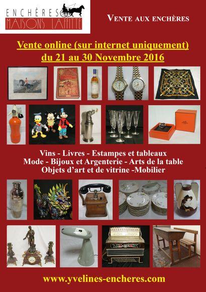 Vente online : Vins - Estampes et Tableau - Mode (dont Hermès) et bijoux-  Arts de la table - Objets d'Art et de vitrine - Mobilier