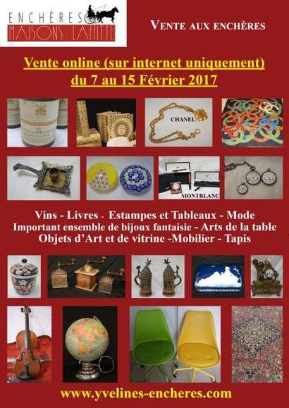 Vente online : Vins - Livres - Estampes et tableaux - Mode et Bijoux - Arts de la table - Objets d'Art et de vitrine - Mobilier - Tapis