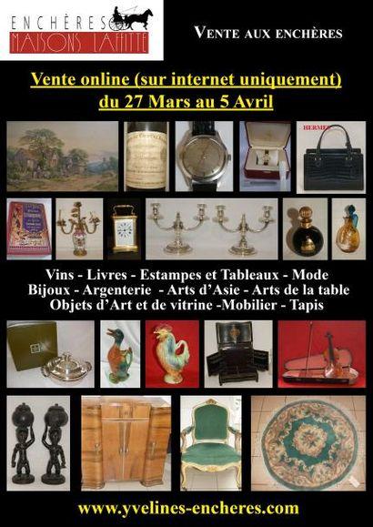 Vente online : vins - estampes et tableaux - mode - bijoux et argenterie - arts de la table - objets d'art et de vitrine - mobilier - tapis