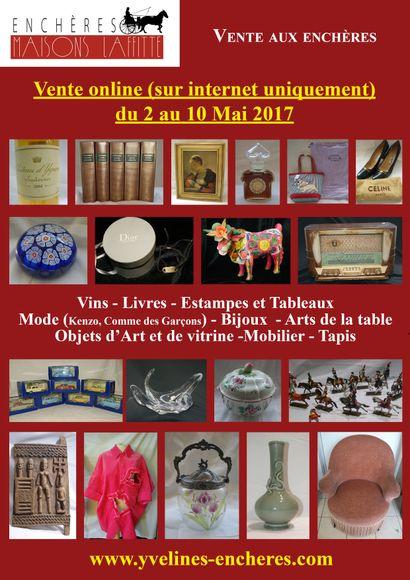 Vente online  : Vins - Livres - Estampes et Tableaux - Bijoux -Mode est Vintage - Objets d'Art et de Vitrine - Mobilier - Tapis