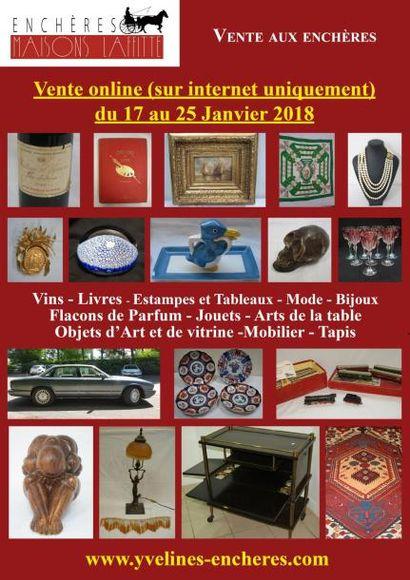 Vente online : Vins et Spiriteux - Estampes et tableaux -  Mode et bijoux - Jouets - Objets d'Art et de Vitrine - Arts de la table - Mobilier - Tapis