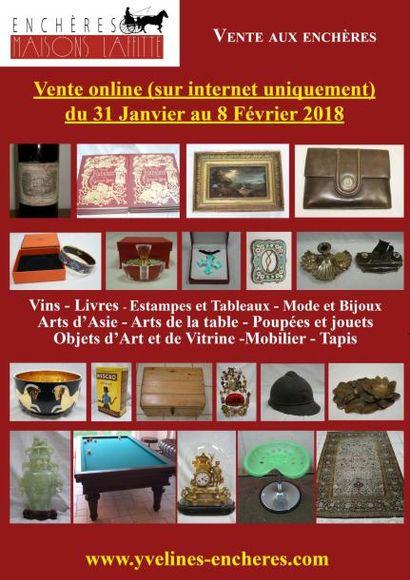 Vente online : Vins - Estampes et Tableaux - Mode et Bijoux - Arts d'Asie - Poupées et Jouets _  Arts de la Table - Objets d'Art et de Vitrine - Mode - Tapis