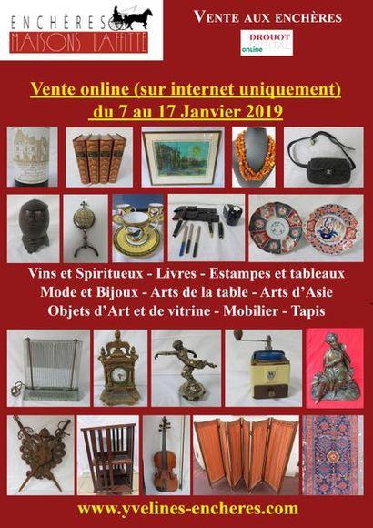 Vins - Estampes et Tableaux - Mode et Bijoux - Arts d'Asie - Arts de la Table - Objets d'Art et de Vitrine - Mode - Tapis