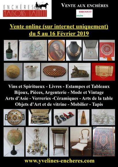 Vente online : Vins - Estampes et Tableaux - Mode et Bijoux - Pièces d'or et d'argent - Arts d'Asie - Arts de la Table - Objets d'Art et de Vitrine - Mode - Tapis