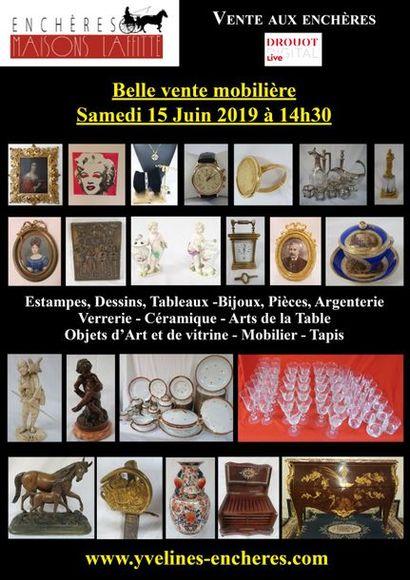 Vente classique : Estampes et tableaux - Bijoux et Argenterie - Objets d'Art et de Vitrine - Mobilier - Tapis