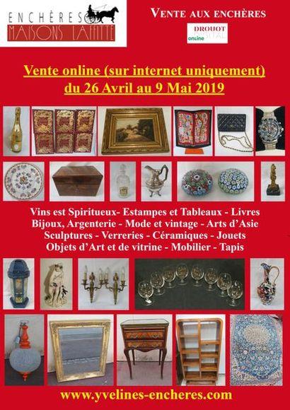Vente online : Vins et Spiritueux - Livres - Estampes et tableaux - Mode et Bijoux - Or et Argenterie - Arts de la table - Arts d'Asie - Objets d'Art et de vitrine - Mobilier - Tapis