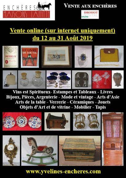 Vente online : Vins et Spiritueux - Livres - Estampes et tableaux - Mode et bijoux - Arts de la table - Objets d'Art et de vitrine - Céramiques - Verreries - Mobilier - Tapis