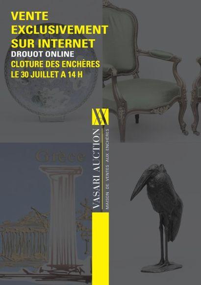 ATELIER DE L'ARTISTE DESKOURA - TABLEAUX Anciens et Modernes - DESSINS - GRAVURES - AFRIQUE - ARGENTERIE - BIJOUX- MOBILIERS ET OBJETS D'ART<br>Vente drouotonline