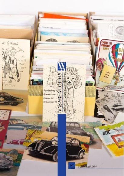VENTE ONLINE - TIMBRES - CARTES POSTALES - CARTES PUBLICITAIRES (EROTISME, REGIONALISME, FERROVIAIRE, METIERS, ILLUSTRATIONS, PUBLICITAIRES) Certaines images sont interdites aux moins de 18 ans.