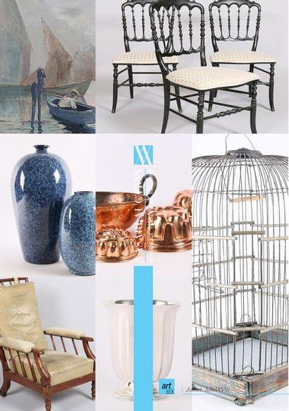 BRIC & BROC IX - Vasari Auction - Enchères Online - Tableaux - Estampes - Mobiliers et Objets d'art - Tapis - Affiches de cinéma - maroquinerie - Bijoux - Argenterie