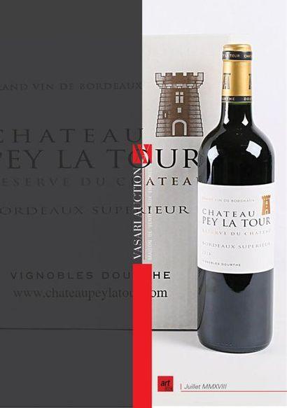 Vente de vins - CHATEAU PEY LA TOUR Réserve du Chateau Bordeaux Supérieur 2014 - Vasari Auction - Enchères online