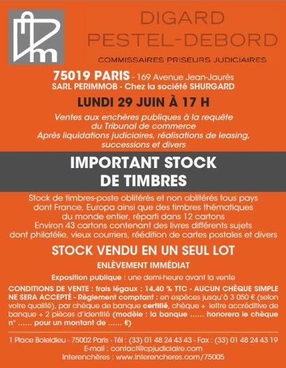 IMPORTANT STOCK DE TIMBRES