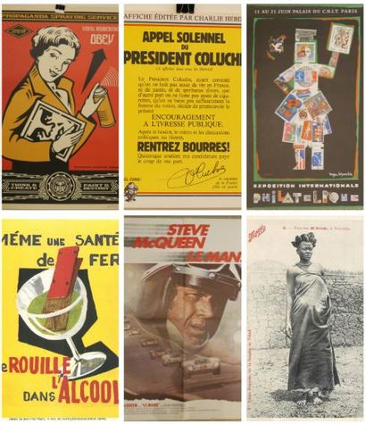 ARTS GRAPHIQUES : Lithographies, Affiches dont Cinéma, Billets, Actions-Emprunts, Buvards, Images, Cartes Postales et Livres.