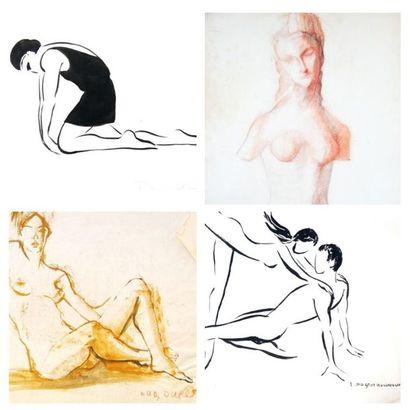 FONDS D'ATELIERS : Arts graphiques par Lucienne PAGEOT-ROUSSEAUX (1899-1994) & Annie DUBOURG (1939-2015)