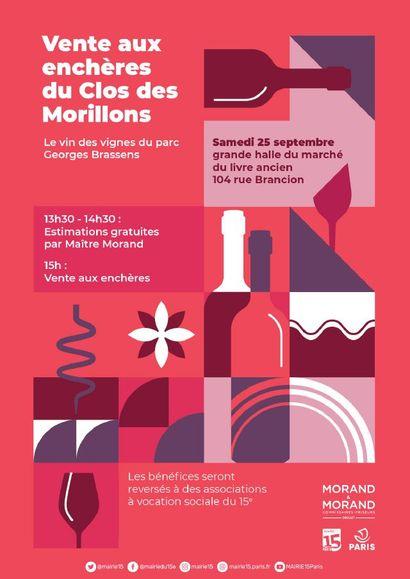 Vente des vins du clos des Morillons