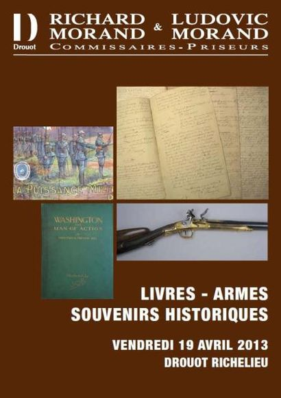 LIVRES - ARMES - SOUVENIRS HISTORIQUES