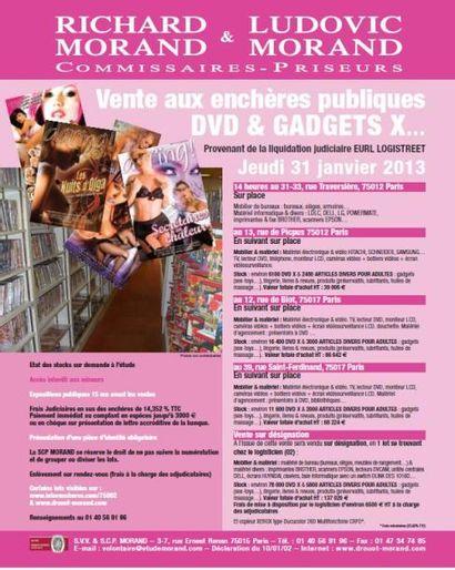 IMPORTANT STOCK GADGETS + DVD X POUR ADULTES LJ EURL LOGISTREET