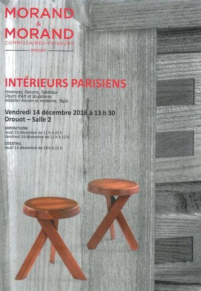 INTERIEURS PARISIENS: Tableaux, sculptures, dessins, mobilier ancien et moderne (meubles Pierre CHAPO et Maison SELTZ), Art d'Asie et Afrique