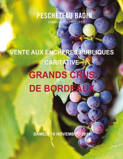 VENTE AUX ENCHERES CARITATIVE DE GRANDS CRUS DE BORDEAUX