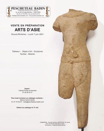 ARTS D'ASIE - Vente en préparation