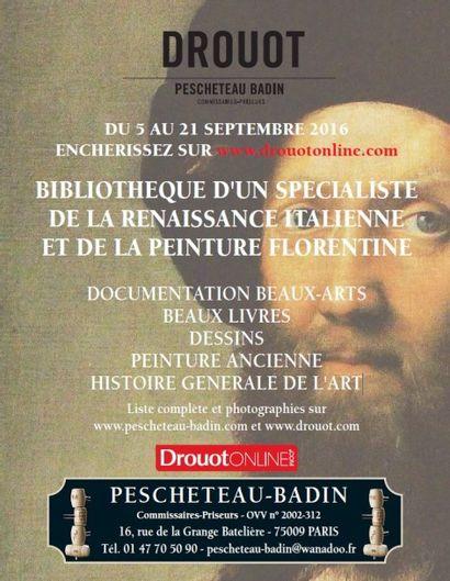BIBLIOTHEQUE D'UN SPECIALISTE DE LA RENAISSANCE ITALIENNE ET DE LA PEINTURE FLORENTINE