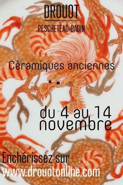 CERAMIQUES ANCIENNES du 4 au 14 novembre