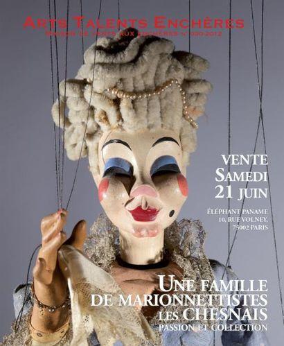 Une famille de Marionnettistes: Les Chesnais. Passion et Collection.<br>vente à 11h00 et 14h00