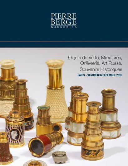 OBJETS DE VERTU, MINIATURES, ORFEVRERIE, ART RUSSE & SOUVENIRS HISTORIQUES