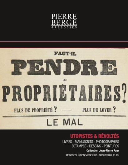 Collection Jean-Pierre Faur - Utopistes & Révoltés