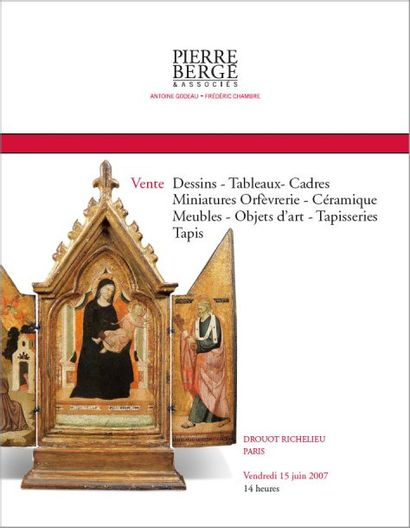 Dessins - Tableaux - Cadres - Miniatures Orfèvrerie - Céramique - Meubles - Objets d'art - Tapisseri